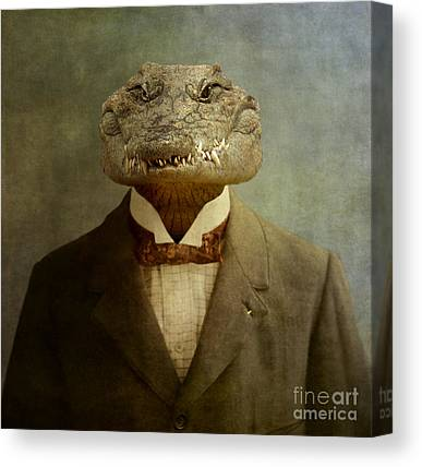 Crocodile Canvas Prints