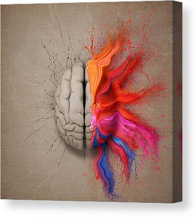 Brain Canvas Prints