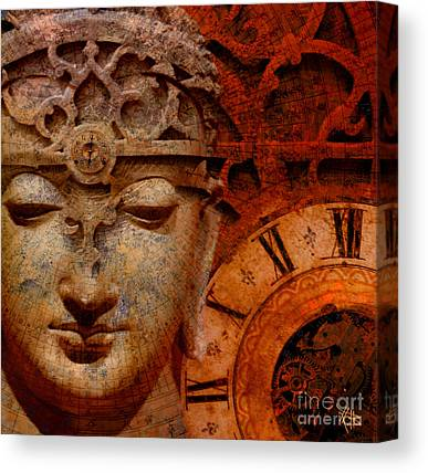 Gear Mixed Media Canvas Prints
