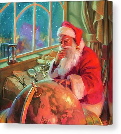 Father Christmas Canvas Prints