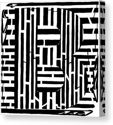 Alphabet Mazes Canvas Prints