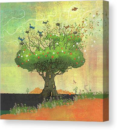 Dennis Wunsch Illustration Canvas Prints