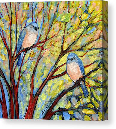 Bluebird Canvas Prints