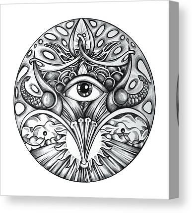 Eye Drawings Canvas Prints