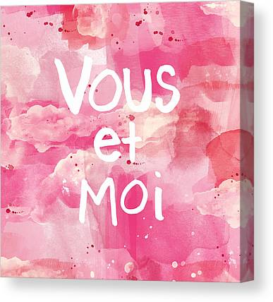 Pink And White Canvas Prints