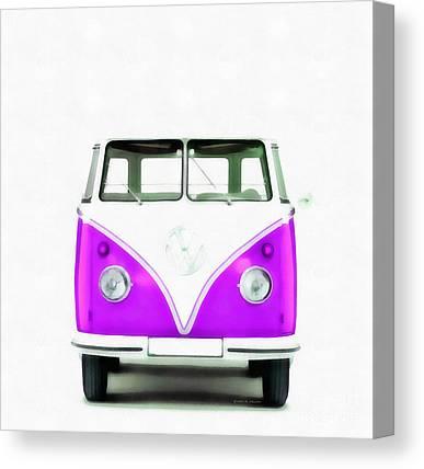 American Automobiles Digital Art Canvas Prints