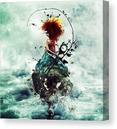 Bad Hair Canvas Prints