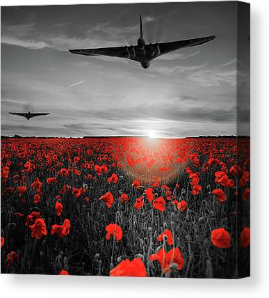 Nuclear Bomber Canvas Prints