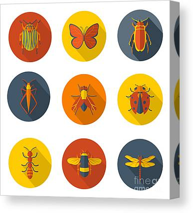 Designs Similar to Insects Flat Icons
