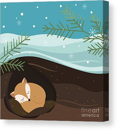 Hibernation Canvas Prints
