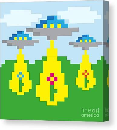 Pixelart Digital Art Canvas Prints