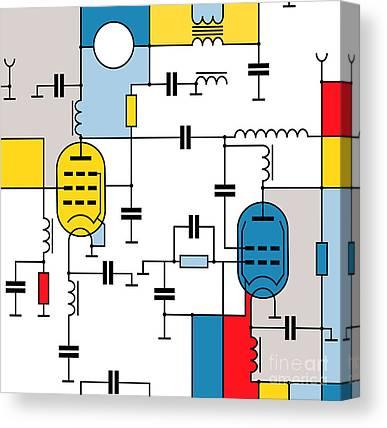 Schematic Canvas Prints