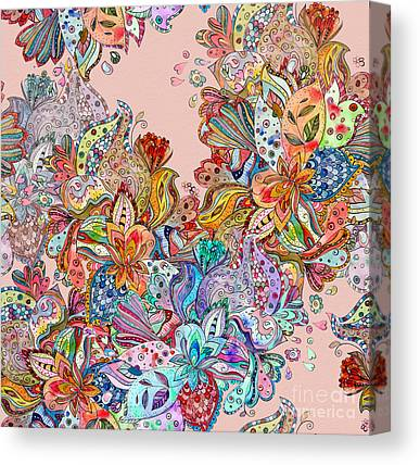 Damask Canvas Prints