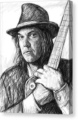 Neil Young Drawings Canvas Prints