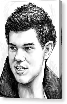 Taylor Lautner Drawing Canvas Prints