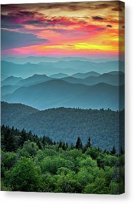 Blue Ridge Parkway Canvas Prints