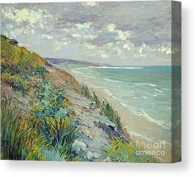 On The Beach Canvas Prints
