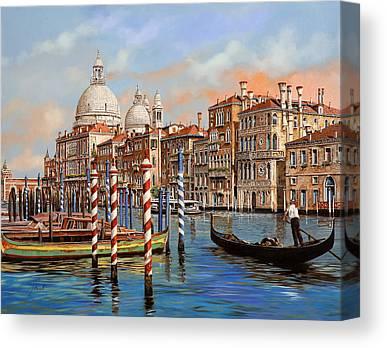 Canal Canvas Prints