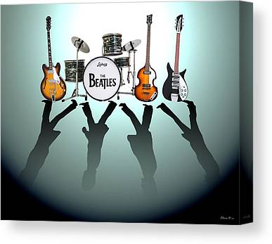 Music Icons Canvas Prints