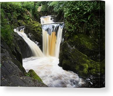 Waterfall Yorkshire England Canvas Wall Art Print Waterfall Home Decor