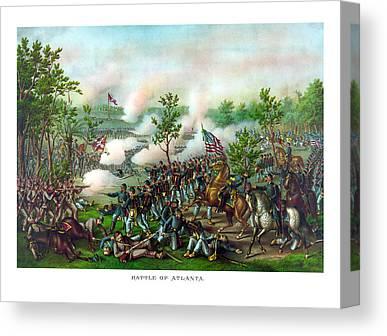 Battle Of Atlanta Canvas Prints