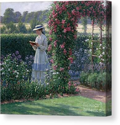 Formal Garden Canvas Prints