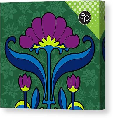 Fleurs Canvas Prints