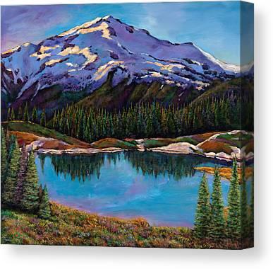 Snow Capped Mountains Canvas Prints