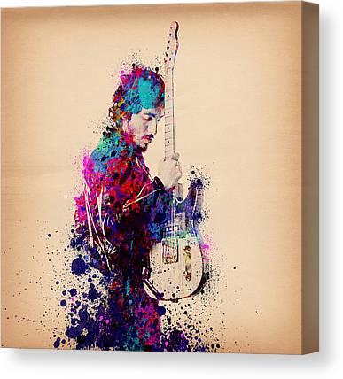 Rock N Roll The Boss Canvas Prints