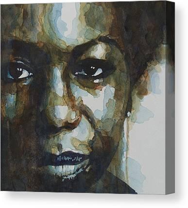 Blues Singer Canvas Prints