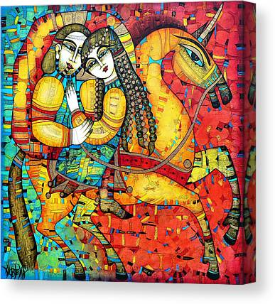 Red Horse Canvas Prints