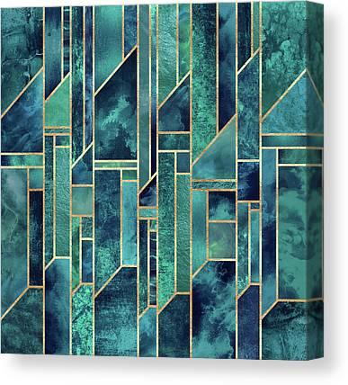 Green Blue Canvas Prints