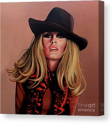 Brigitte Bardot Actress Canvas Prints
