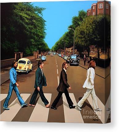 Rock George Harrison Music Canvas Prints