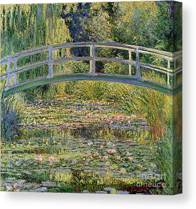 Monet Water Lilies Canvas Prints