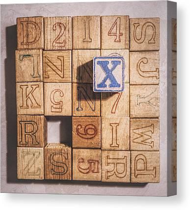 Alphabet Block Canvas Prints