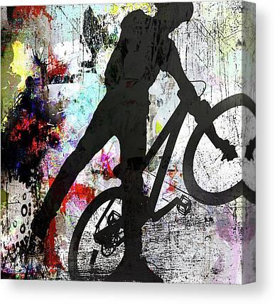 Bmx Racing Canvas Prints