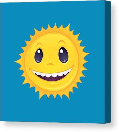 Smiley Face Canvas Prints