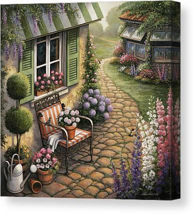Cobblestone Path Canvas Prints