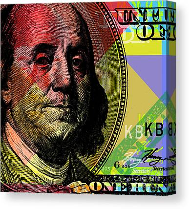 Money Canvas Prints