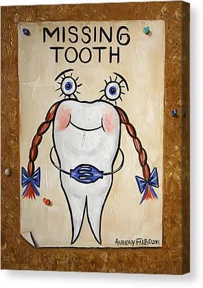 Missing Teeth Canvas Prints