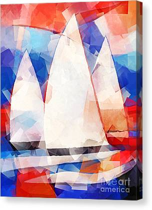 Sailing Regatta Canvas Prints