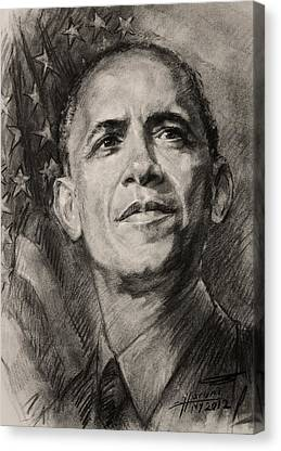 Barack Obama Drawings Canvas Prints