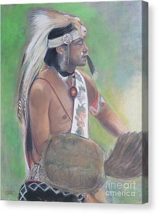 Wampanoag Mixed Media Canvas Prints