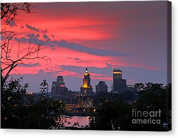 4th Of July Sunset Providence Ri Canvas Print