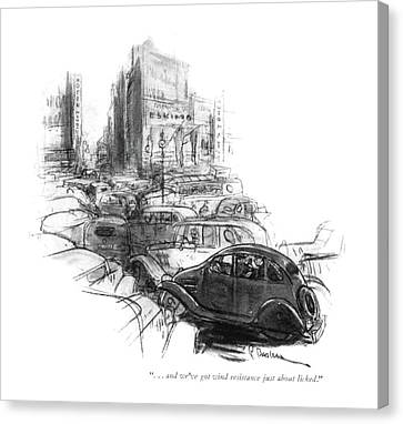 Car Canvas Print - . . . And We've Got Wind Resistance by Perry Barlow