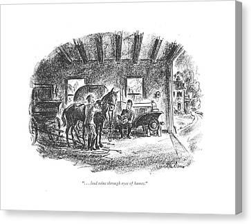 . . . Lead Reins Through Eyes Of Hames Canvas Print by Alan Dunn