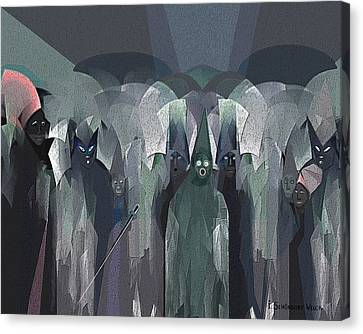 001 - Nightwalkers Dark ... Canvas Print by Irmgard Schoendorf Welch