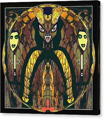 056 - A Demon   Canvas Print by Irmgard Schoendorf Welch