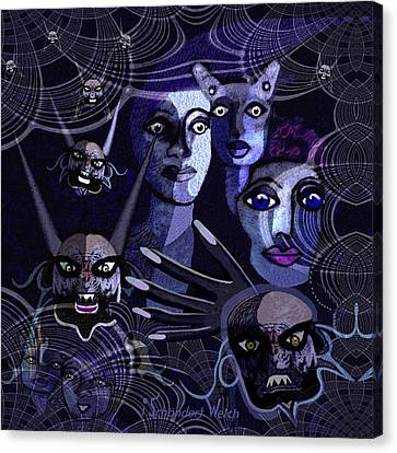 060 -  Paranoia Blues ... Canvas Print by Irmgard Schoendorf Welch
